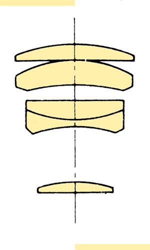 Konica Hexanon AR 135mmf32 section