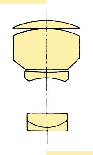 Konica Hexanon AR 200mmf35 Var II section