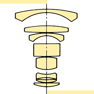 Konica Hexanon AR 24mmf28 Var I section