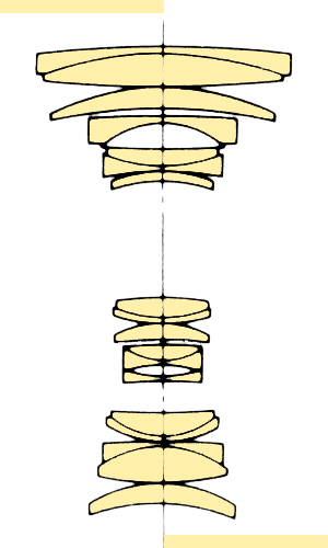 Konica Hexanon AR 28-135mmf4-46 section