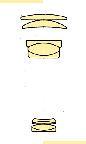 Konica Hexanon AR 300mmf63 Fluorite section