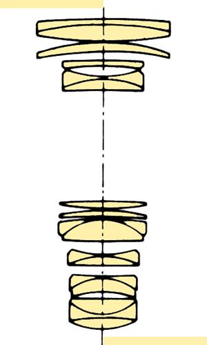 Konica Hexanon AR 80-200mmf35 section