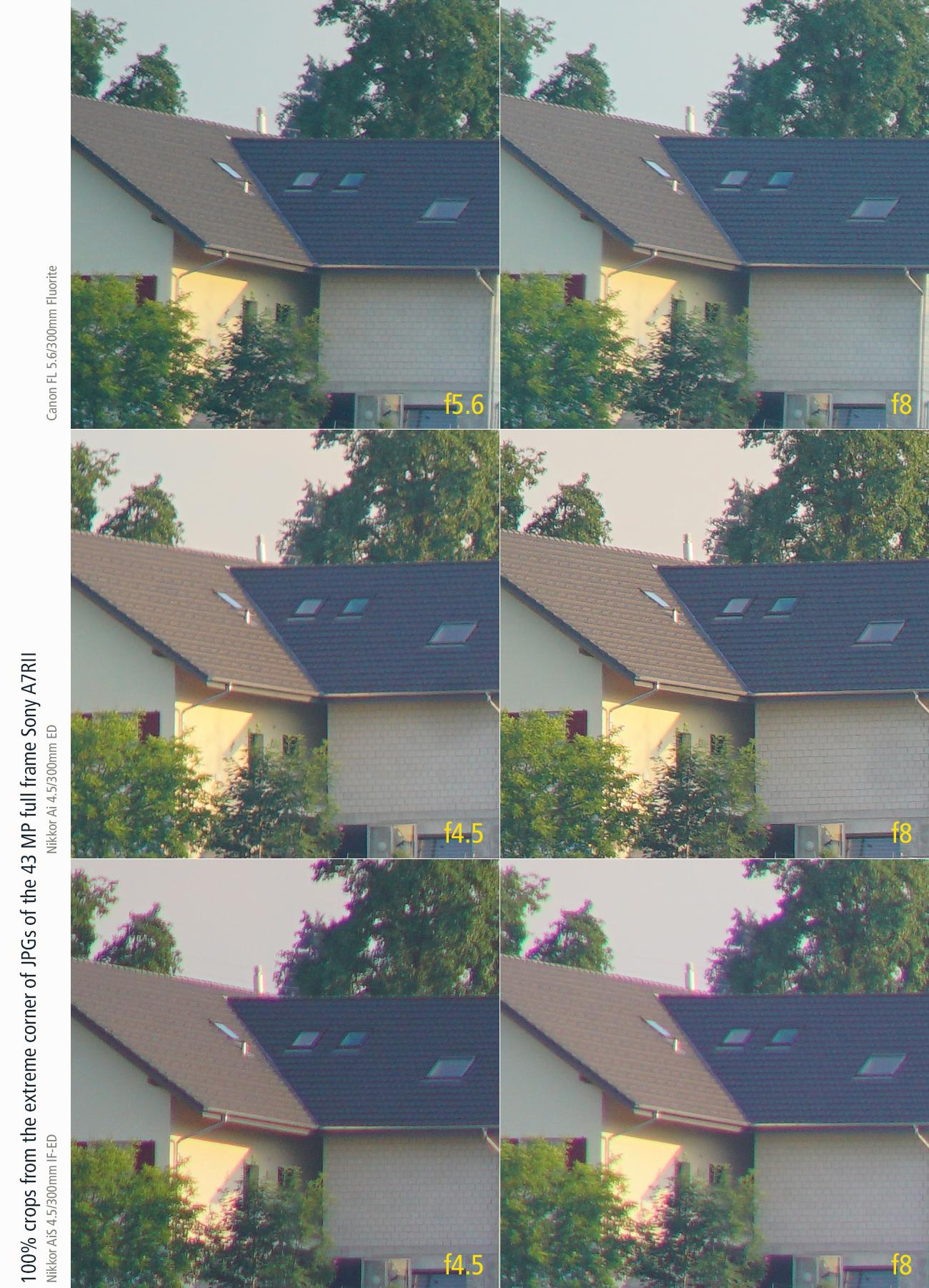 artaphot Test Canon FL300f56Fluorite Ai300f45ED Ai300f45IF-ED corner