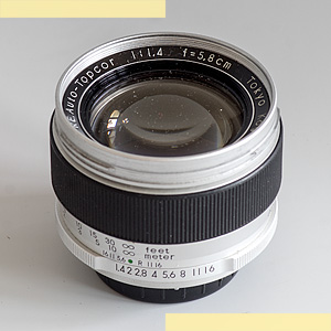 Topcor RE 58mm f14 pic